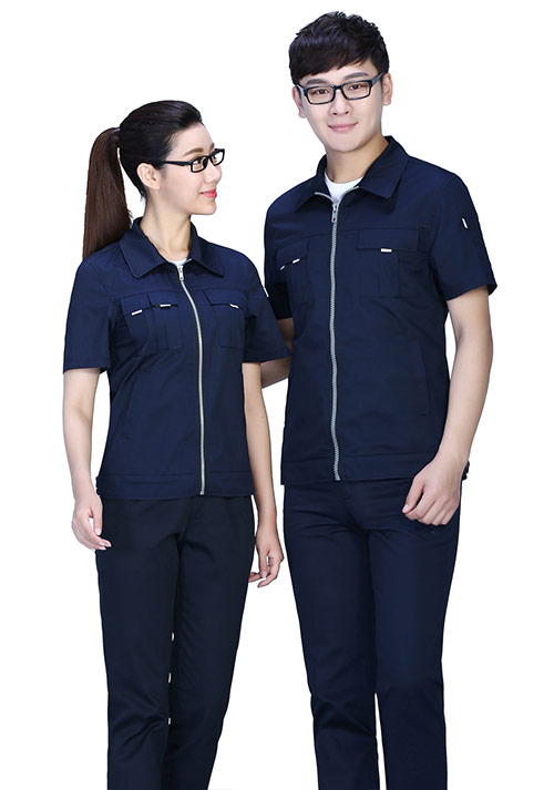 北京蓝物业工服