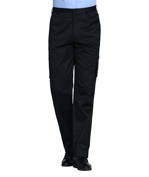 黑色立体兜工裤男