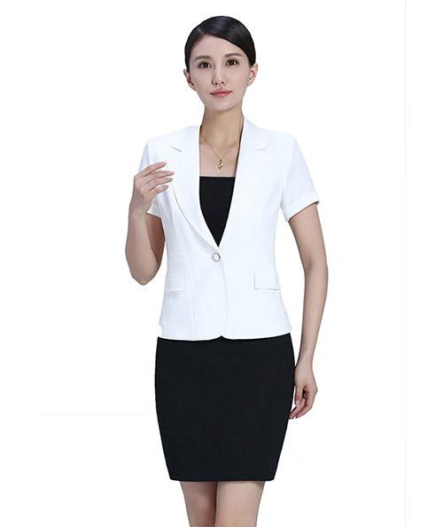 白色短袖职业装