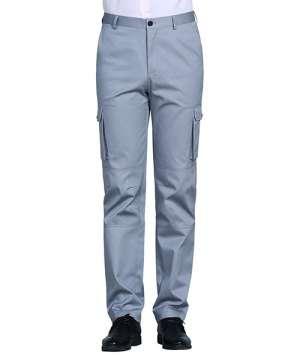 银灰立体侧兜裤男