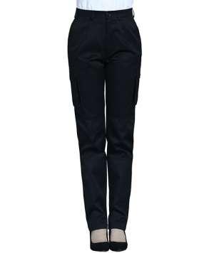 黑色立体工裤
