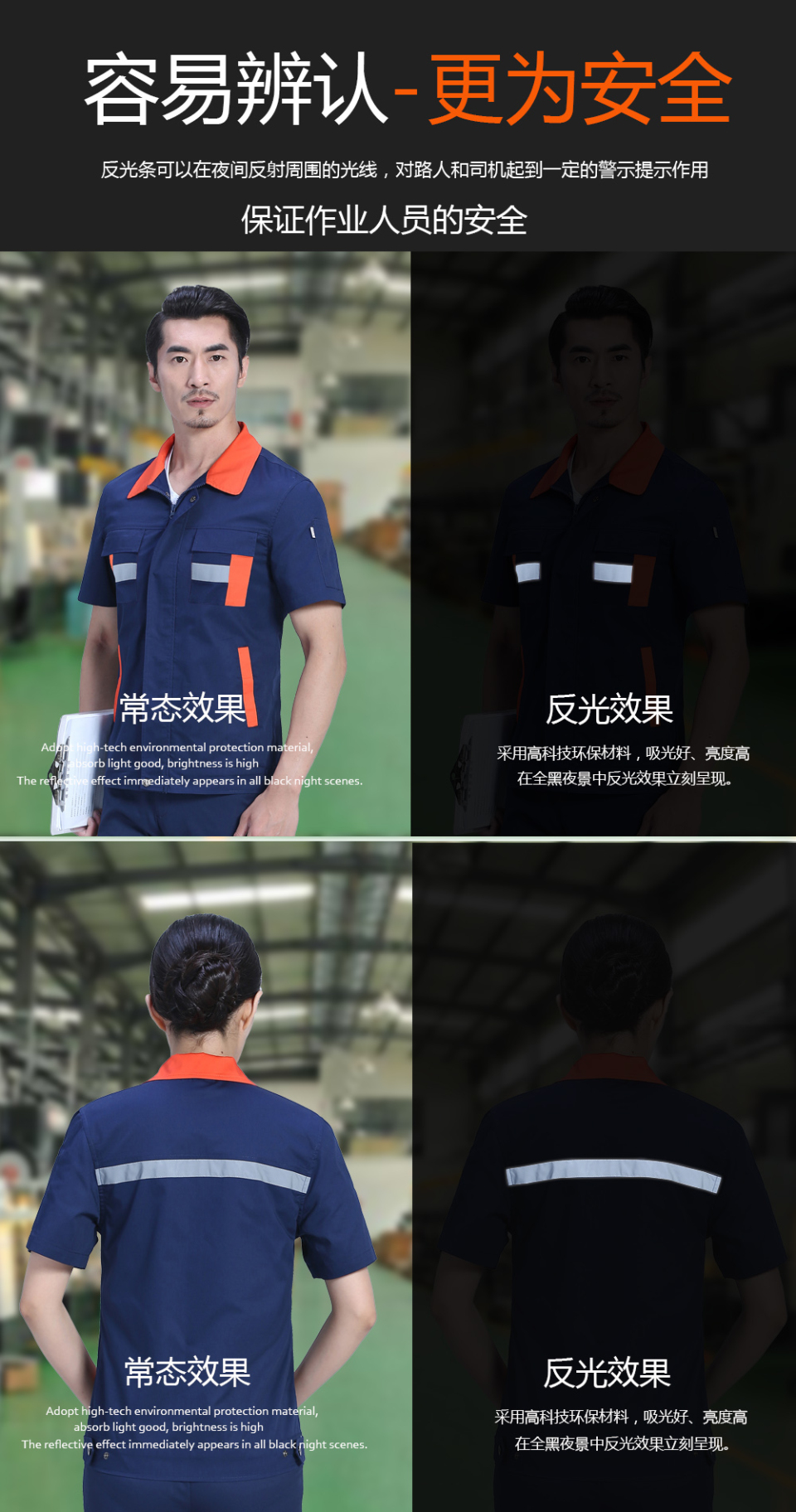 浅蓝色夏季工服FY613