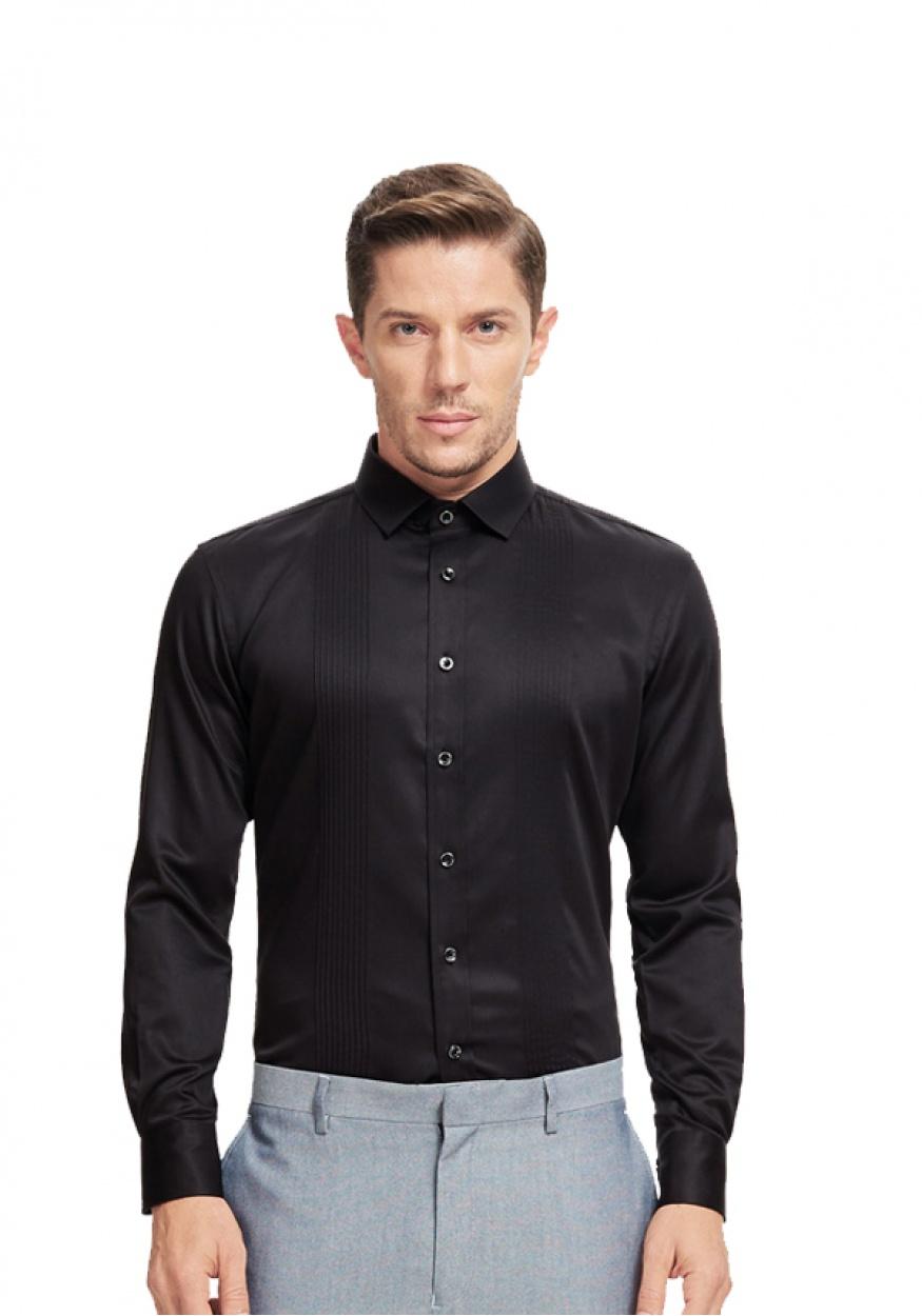 男士黑色职业衬衫