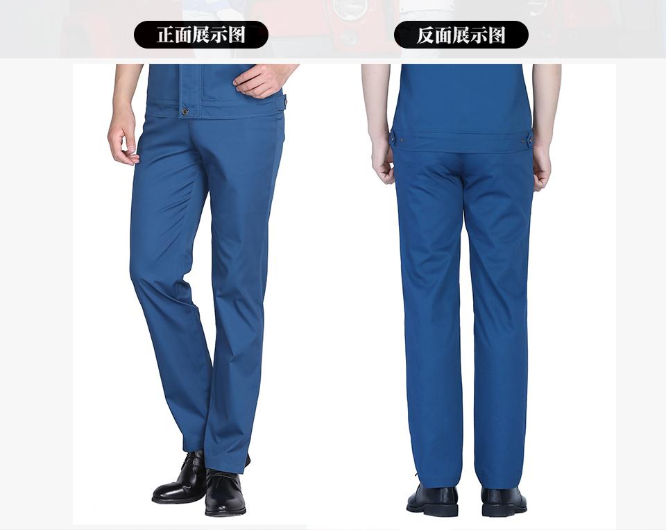 新款中灰色夏季涤棉斜纹休闲工装裤