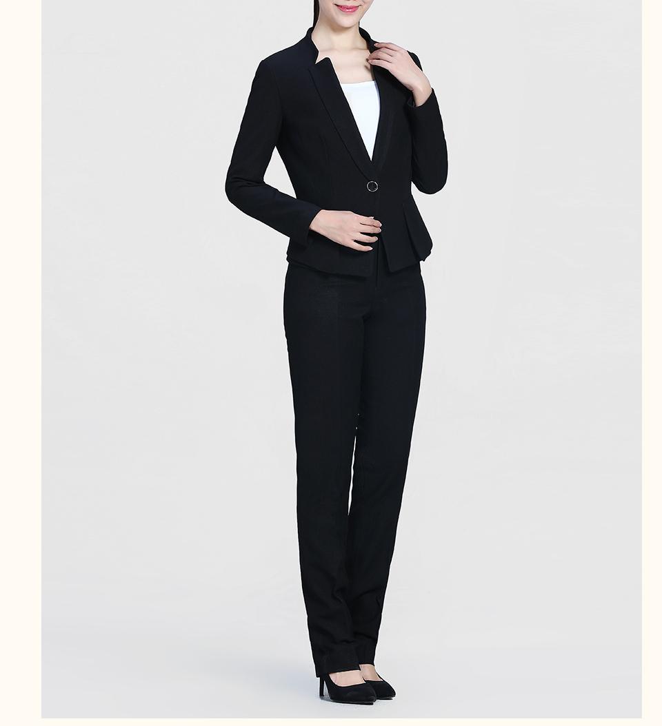 新款黑色修身时尚职业装FX07